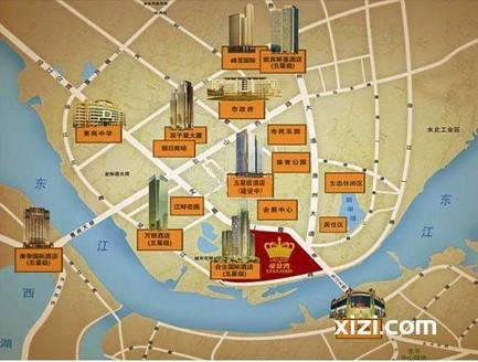 合生帝景湾 CBD中心 南北通透四房精装修 价格270万安静同户型最里面