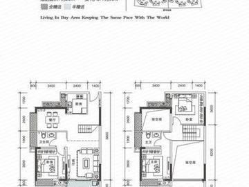 中信水岸城花园1/3/4栋c1户型 130㎡图片