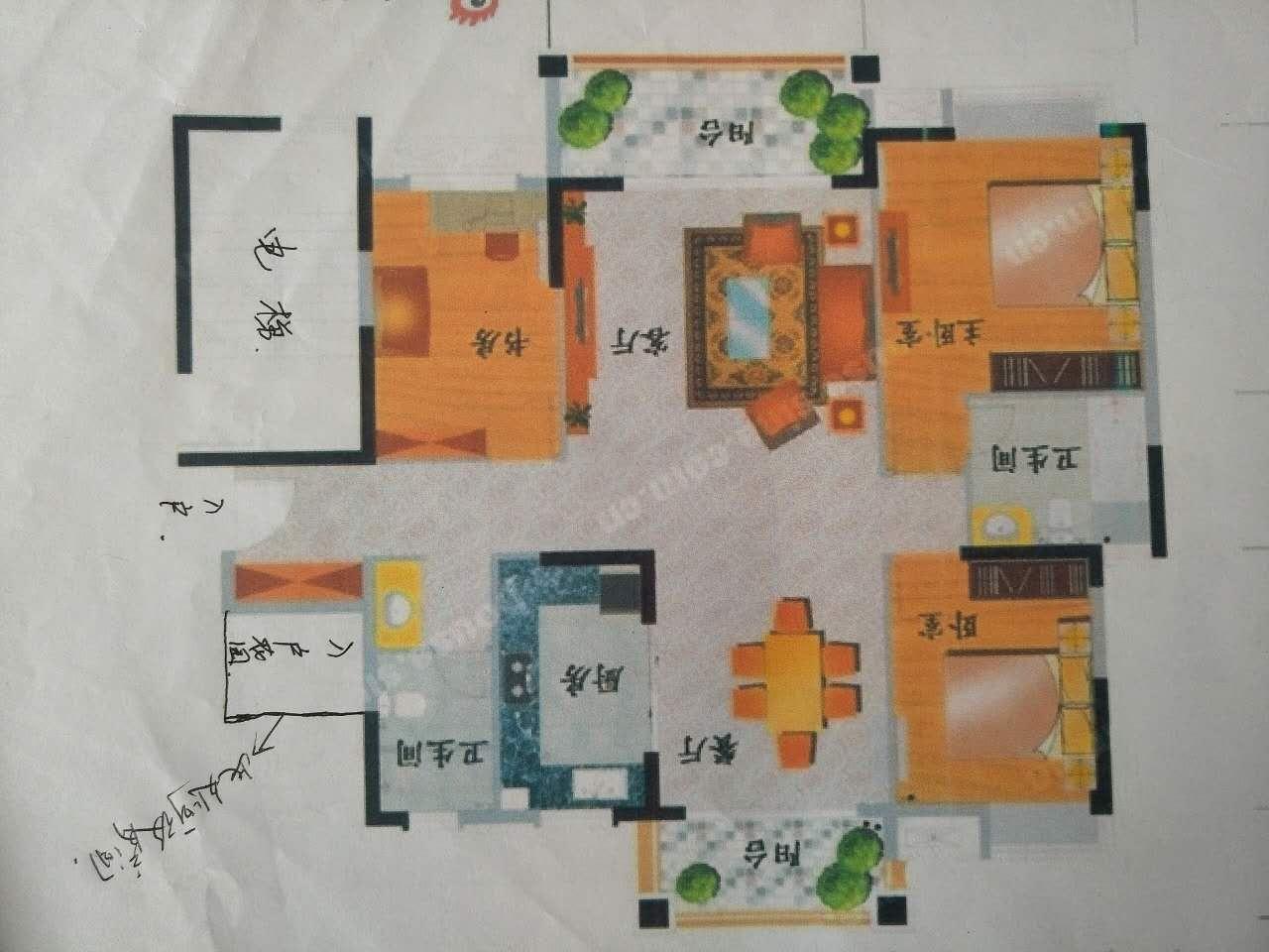 东江学府三期 花园中间 高层带装修出售