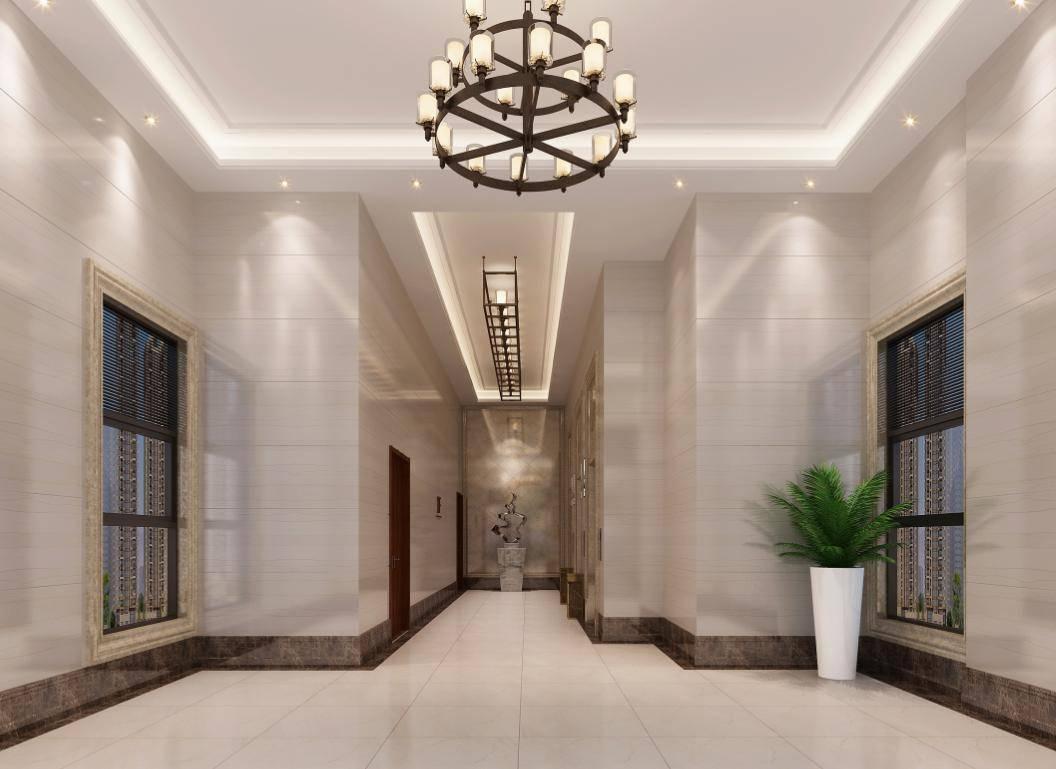 地下室入户大堂装修与住宅大堂的精装修标准一致,出入之间如同置身