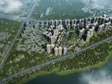 中洲半岛城邦 鸟瞰图