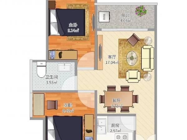 新天虹旁 豪华装大3房 实用率高 看房方便