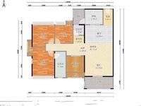 新天虹商圈,南山翡翠,朝南看花园,四房两厅,满两年!