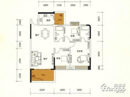 新天虹旁边瑞和家园114平朝南三房两厅两卫急售152万!毛坯高层,采光视野一流!