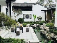 中式合院300平环绕型花园全明式设计 别人的旅游胜地,你的山水人文居