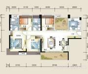 东部铭座 137平米四房 户型图