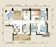 东部铭座 110平米三房 户型图