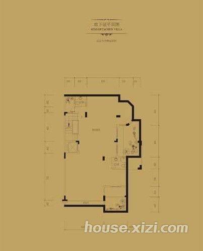 双拼别墅地下室、一层平面图