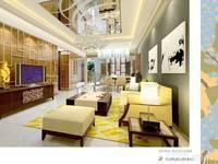 简约中式-客厅设计效果图