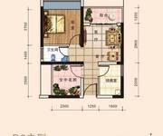 华冠花园D3户型图-一房一厅42平米