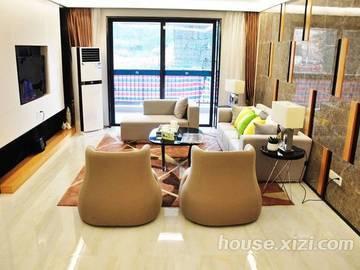 鸿润·叠韵143平米客厅