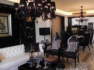 富力现代广场-样板间-客厅