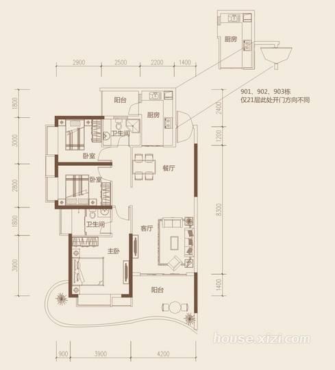 隆生东湖9区B1户型