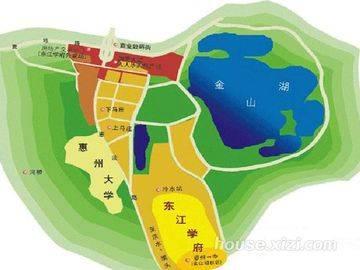 东江学府 项目区位图
