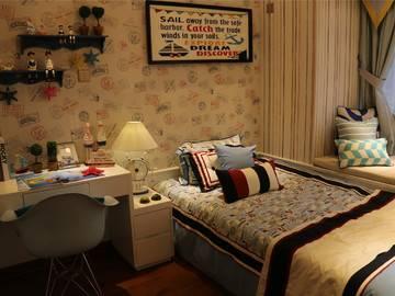 宏益花城花澜95平米样板房卧室