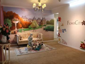 宏益花城花颂创意样板房客厅