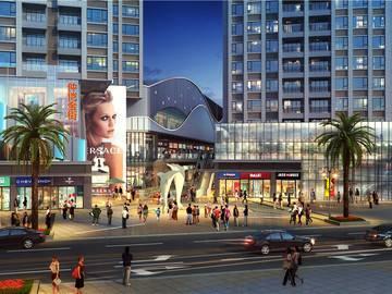 鑫月广场·欢乐海湾商业街入口