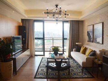 一城悦府100平米样板房·客厅