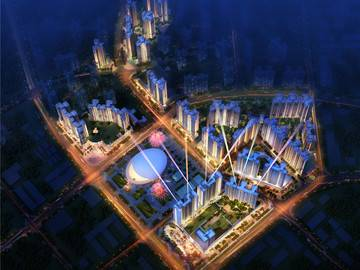 鑫月广场·欢乐海湾 鸟瞰图