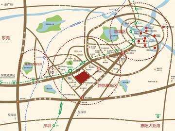 隆生仲恺花园 区域图