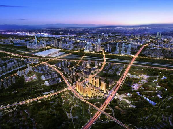 惠州高铁北站项目 领地兰台府 高端社区 大楼盘