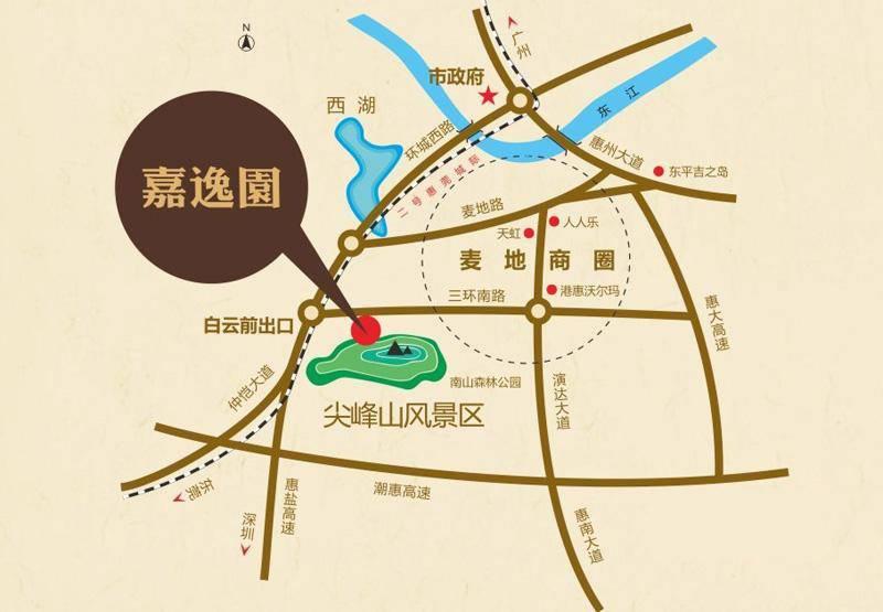 嘉逸园交通图