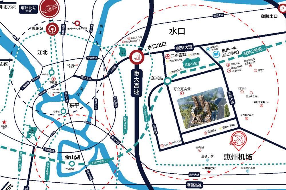 龙惠华御园交通图
