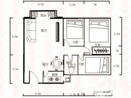 市中心麦地南山庄二期业主自住温馨电梯三房 居家不二之选
