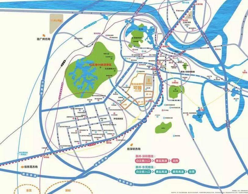 佳兆业时代·可园交通图
