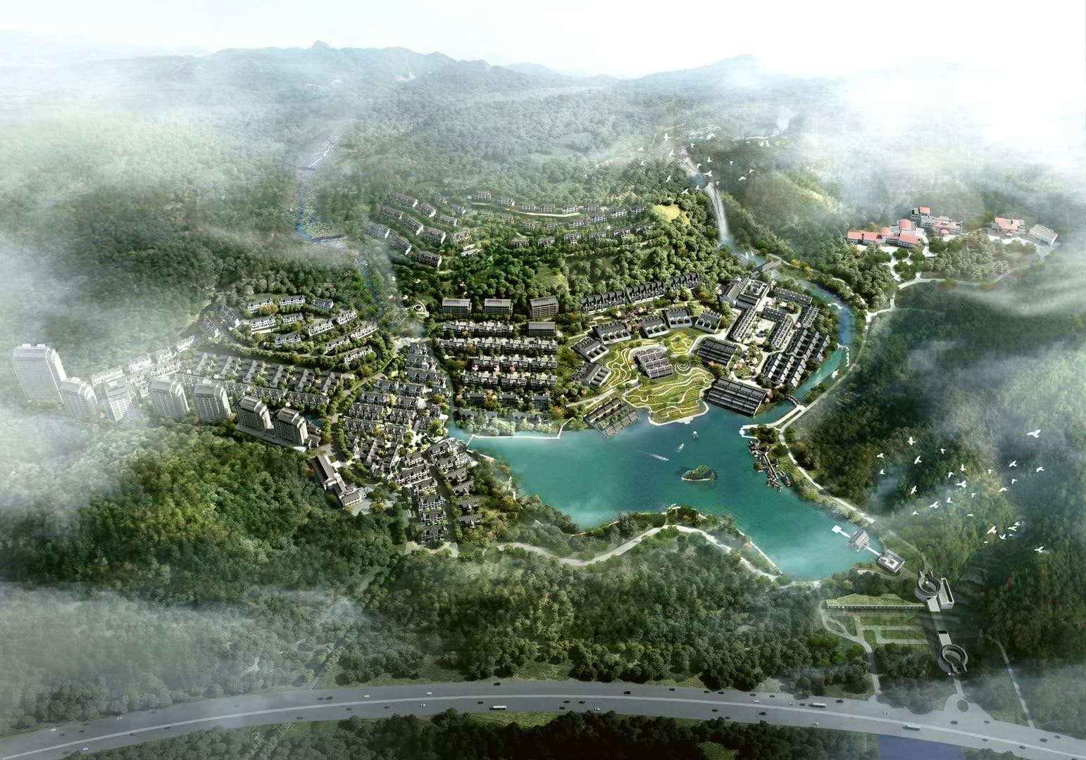 千年东坡泉,岭南第一汤 温泉中式 别墅开售 新房免佣