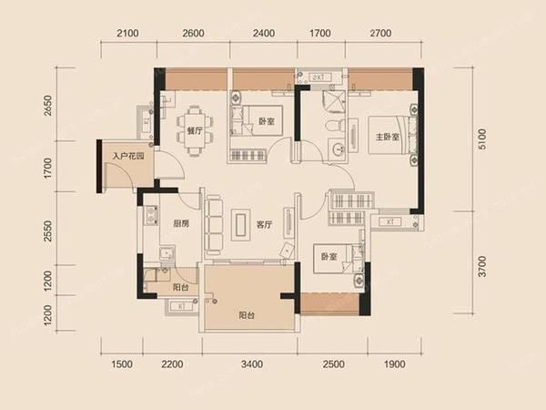 三环天虹商圈 花园小区 怡景华庭 精装修3房户型好拎包入住