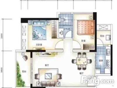 价格美丽 港惠商业 精装大2房 朝南 带大阳台