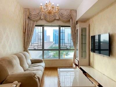 华贸中心 精装两房出租 4000一个月 拎包入住!