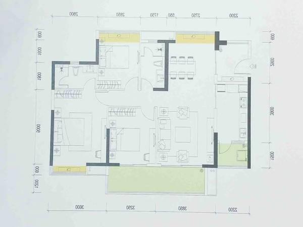 隆生大桥旁海伦春天顶楼3房2厅2卫南北通透可看江景138万低价出售