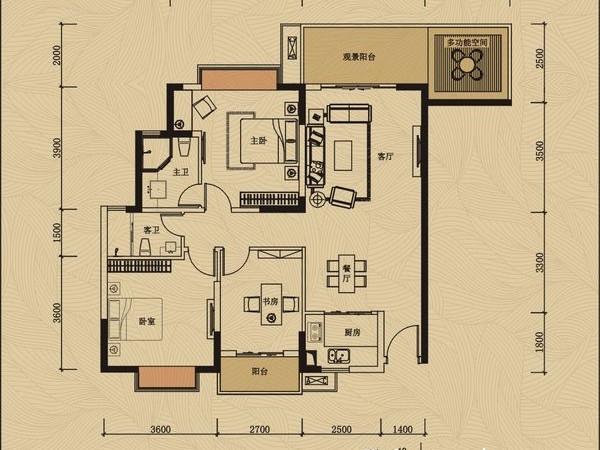 鸿润叠韵 高楼层豪华装修 视线超好看湖景 惠南一中业主急卖3 1房两厅两卫