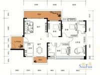 瑞和家园二期 性价比最高的一套142平南北双阳台4房 卖190万 手慢则无!!
