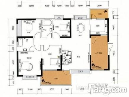 瑞和家园二期 4 房140平全新毛坯南北通透户型210万