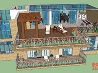 文岭西堤稀缺顶楼带露台复式产证153平,实用面积230平左右